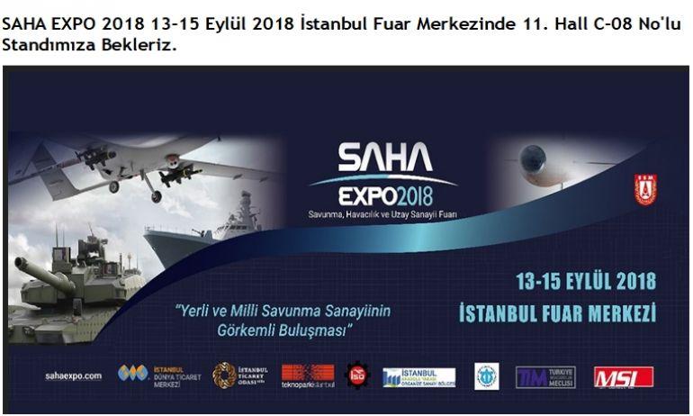 SAHA EXPO 13-15 EYLÜL 2018